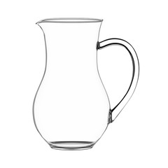 Empty milk jug isolated on white.