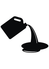 Vector silhouette of a canister of gasoline