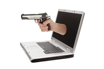 Laptop computer isolated on a white background