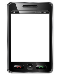 Mobile phone isolated.