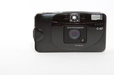 schwarzer Fotoapparat analog
