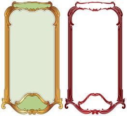 vector frame baroque