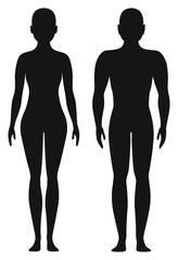 Obraz Proporcjonalne kształty mężczyzny i kobiety - fototapety do salonu