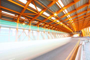 Orange tunnel at daytime in Hong Kong