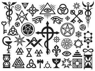 Medieval Occult Signs And Magic Stamps, Locks, Knots (with Additions)