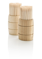 two barrels with toothpicks