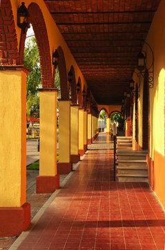 Sidewalk in Tlaquepaque district, Guadalajara, Mexico
