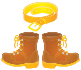 Boots and belt