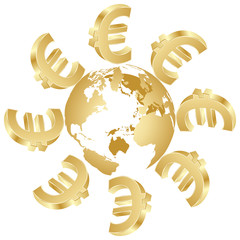 symbol of euro around the world