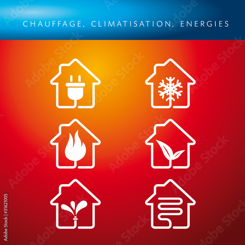 Pictogrammes Chauffage Climatisation Energies