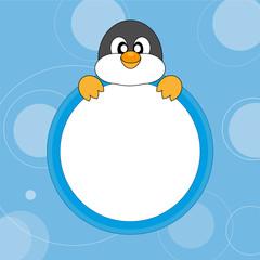 Portarretrato pingüino