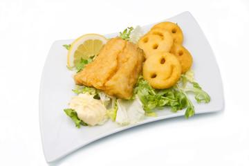 merluzzo fritto con patatine