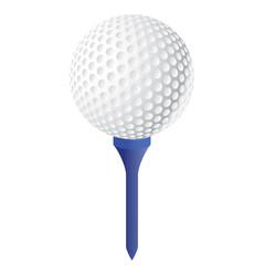 Balle de golf avec le tee