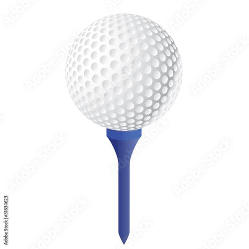 balle de golf avec le tee fichier vectoriel libre de. Black Bedroom Furniture Sets. Home Design Ideas