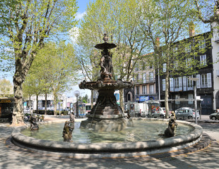 Photo on textile frame Fontaine Fontaine Delille à Clermont-Ferrand
