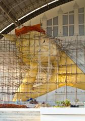 Buddha sleeping Buddha's death