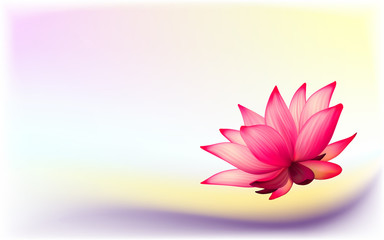 Vector photo-realistic lotus flower on abstract background