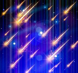 Meteor rain, Space & Stars