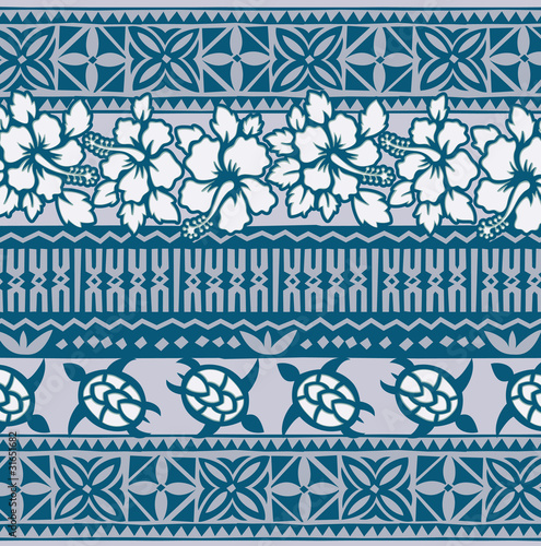 "Polynesian Tribal Wallpaper: ""hawaiian Wallpaper"" Stock Image And Royalty-free Vector"