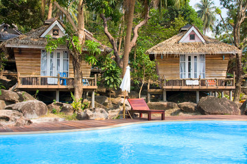 Beach bungalow , Thailand .