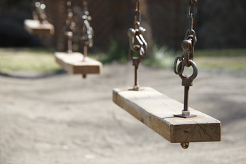 Rusty swing in Park