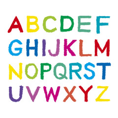 クレヨンのアルファベット 大文字