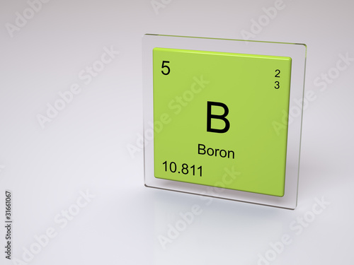 Boron Symbol B Chemical Element Of The Periodic Table Stock