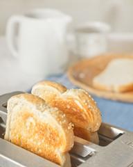 Toast in Simple Breakfast Scene