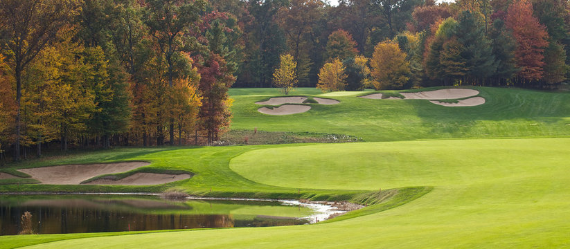 Golf Course in the Autumn