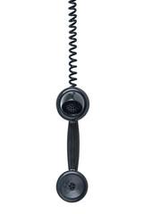 Hanging phone isolated on white