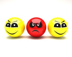 smiley face happy unhappy