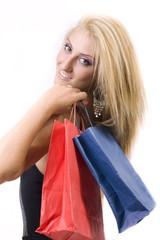 felice di fare shopping