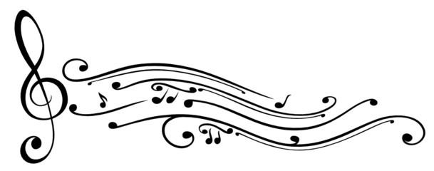 Noten, Notenschlüssel, Musiknoten, Musik, schwarz