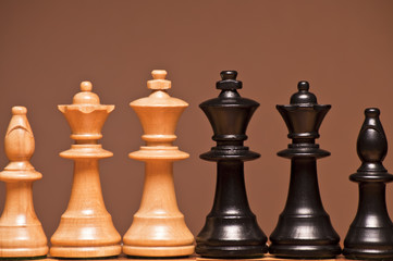 Schachfiguren - Detail