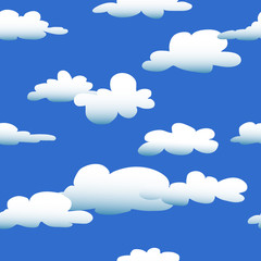 Keuken foto achterwand Hemel Cartoon Cloud seamless pattern