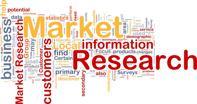 Market research background concept