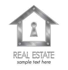 Metallic real estate identity company design elements
