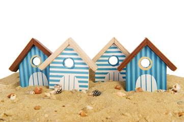 Row beach huts