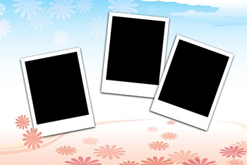 background graphic cute & photo frame