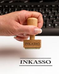 Inkasso - Konzept Geld und Schulden