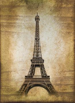 Tour Eiffel, style vintage