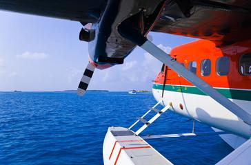 Seaplane at Maldives