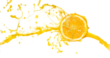 orange juice splash