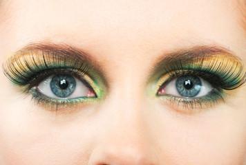 Fashion eye, long eyelashes and beautiful eye.