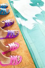 Feet in flipflops