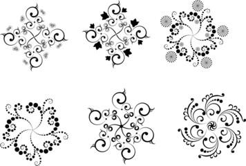 Snowflakes Black