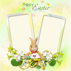 Retro card with Bunny
