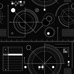 Engineering draft seamless pattern.