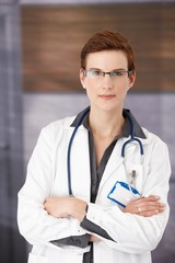 Young medical doctor in uniform