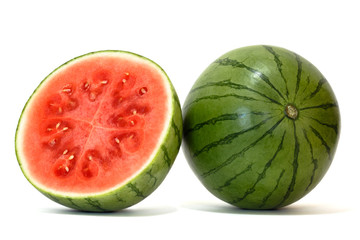 watermelon with clipping path